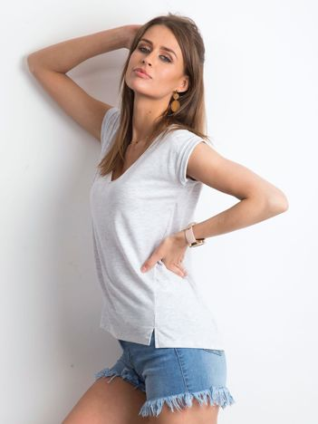 Jasnoszary melanżowy t-shirt Vibes