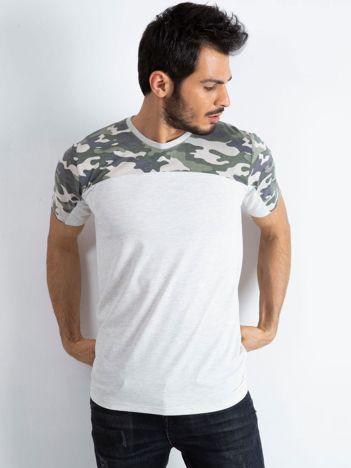 Jasnoszary t-shirt męski Limits
