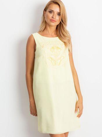 Jasnożółta sukienka Secret