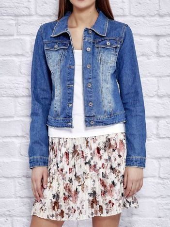 Jeansowa kurtka damska niebieska
