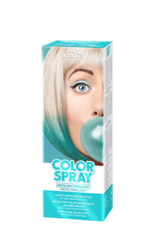 Joanna COLOR SPRAY Pastelowy turkusowy 150ml
