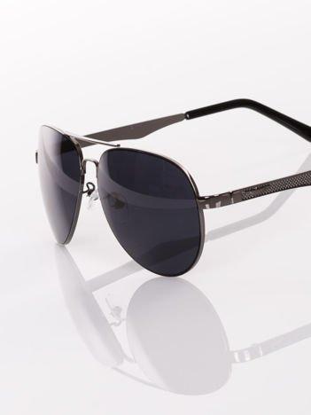 KLASYKA czarne policyjne pilotki AVIATORY- okulary przeciwsłoneczne