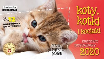 KUKARTKA Kalendarz pocztówkowy na rok 2020 KOTY. 12 pocztówek GRATIS!