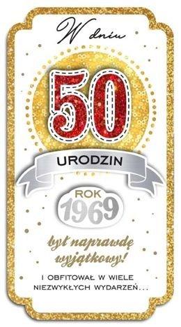 KUKARTKA Kartka W Dniu 50 Urodzin. Wyjątkowa i niepowtarzalna kartka z kolekcji Passion Moments