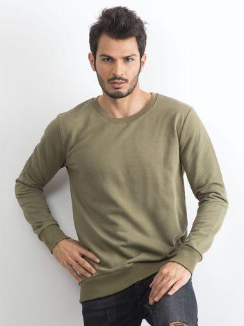 Khaki bawełniana bluza męska