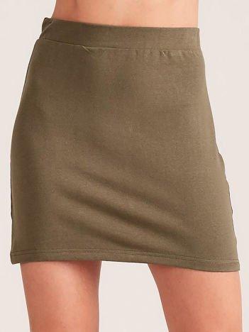 Khaki dresowa spódnica mini