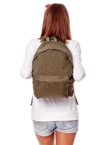 Khaki materiałowy plecak