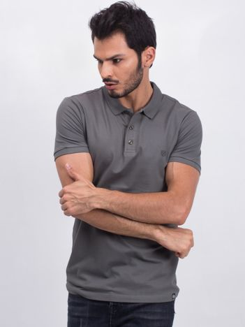 Khaki męska koszulka polo Numerous