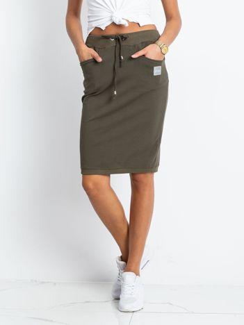 Khaki spódnica Features