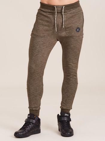 Khaki spodnie dresowe dla mężczyzny