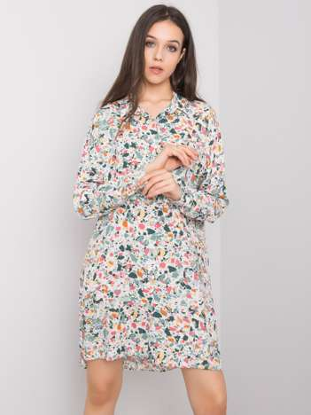Khaki sukienka we wzory Farah