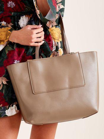 Khaki torba damska shopper