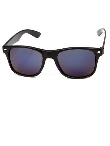 Klasyczne okulary w stylu WAYFARER unisex NIEBIESKOFIOLETOWE LUSTRZANKI