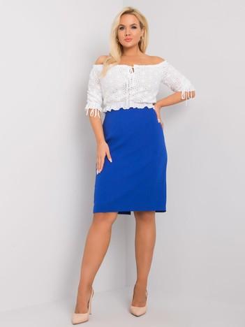 Kobaltowa ołówkowa spódnica plus size Sally