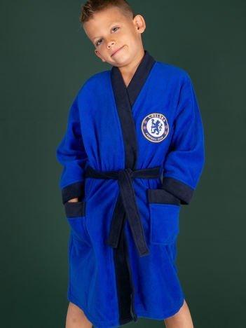 Kobaltowy szlafrok dla chłopca CHELSEA F.C.