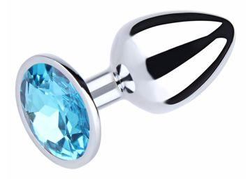 Korek analny z kryształem przeznaczony do gorących pieszczot wykonany z wysokiej jakości stali nierdzewnej