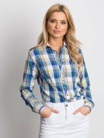 Koszula damska w kolorową kratkę