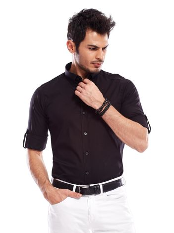 Koszula męska czarna slim fit