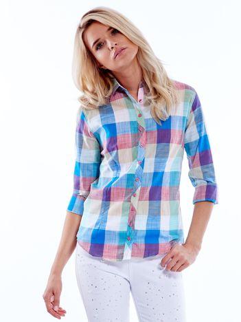 Koszula w kolorową kratę