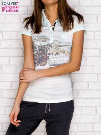 Koszulka polo z nadrukiem miętowa