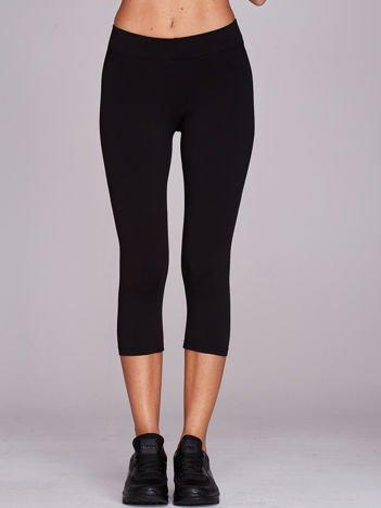 Krótkie cienkie legginsy sportowe czarne