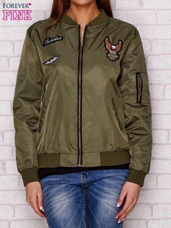 Kurtka bomber jacket w amerykańskim stylu khaki