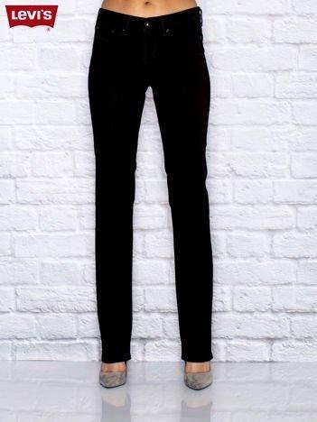 LEVIS Czarne jeansy stright