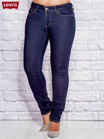 LEVIS Granatowe dopasowane jeansy PLUS SIZE