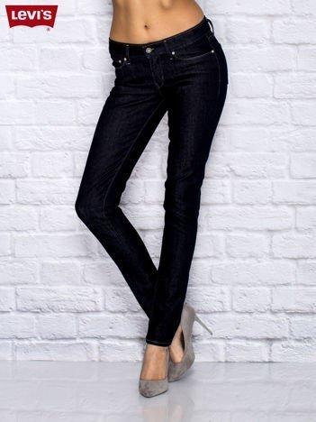 LEVIS Granatowe dopasowane spodnie jeansowe