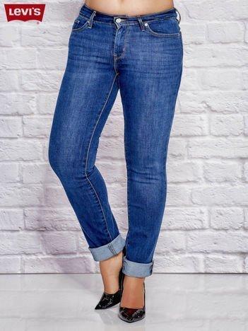 LEVIS Niebieskie dopasowane jeansy PLUS SIZE