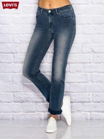 LEVIS Niebieskie spodnie jeansowe ze strechem