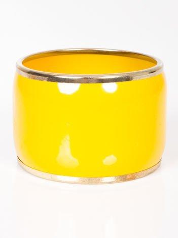 LOLITA Bransoletka wsuwana żółto-złota szeroka