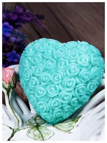 LaQ Mydełko Wielkie serce - zielony / Zapach - jabłko i orzechy BEZ SLS i SLES