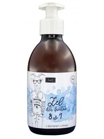 LaQ Żel pod prysznic dla facetów 8 w 1. Nie zawiera SLS, SLES, parabenów i silikonów. 300 ml