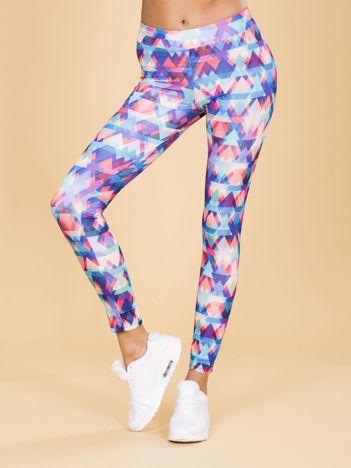 Legginsy damskie w kolorowe wzory