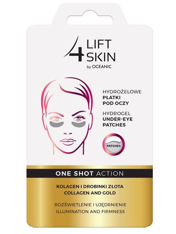 Lift 4 Skin One Shot Action Hydrożelowe Płatki pod oczy - Kolagen i Drobinki Złota