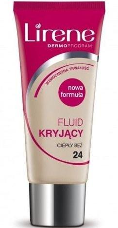 Lirene Fluid Kryjący 24 ciepły beż 30 ml