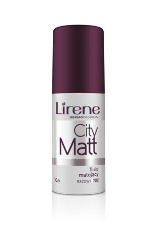 Lirene Fluid matująco-wygładzający City Matt - Beżowy 207 30 ml