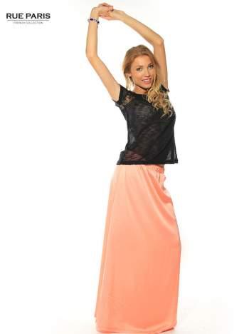 Łososiowa spódnica maxi