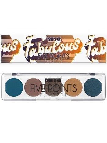 MIYO Paleta 5 cieni FIVE POINTS PALETTE Color Box Edition no.25 6,5 g