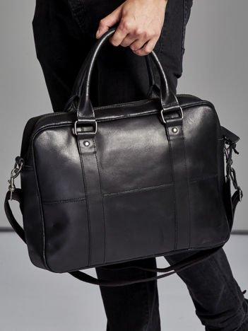 MIejska torba męska na suwak czarna