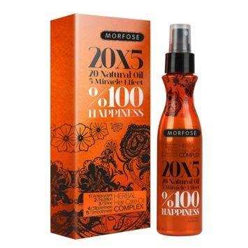 MORFOSE 20x5 100% HAPPINESS Naturalny ziołowy olejek do włosów 150 ml