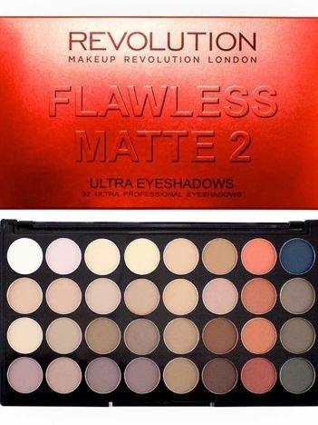 Makeup Revolution Ultra Palette Paleta 32 cieni Flawless Matte 2 16g