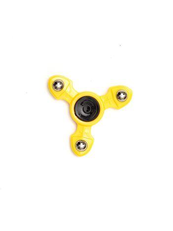 Metalowy żółty fidget spinner z ozdobnymi kulkami