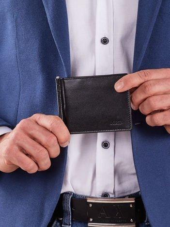 Miękki czarny portfel męski
