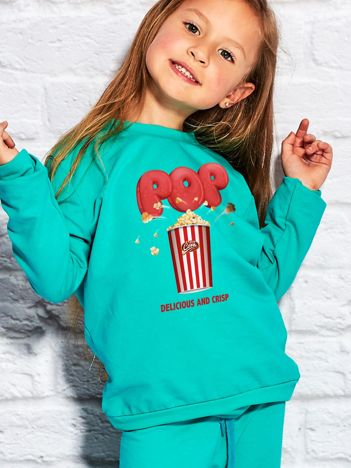 Morska bluza dziecięca z nadrukiem popcornu
