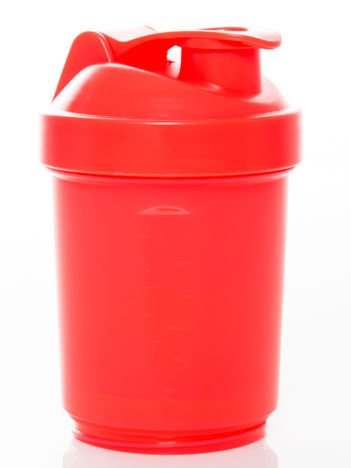 Muscle Shake - Shaker Neon - 400 ml + 120 ml + 180 ml Neon red