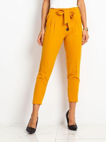 Musztardowe spodnie Devon