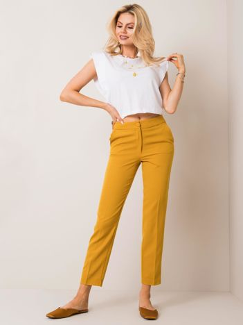 Musztardowe spodnie Ruby RUE PARIS