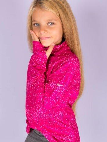 NIKE PRO Ciemnoróżowa bluzka dziewczęca treningowa w piksele